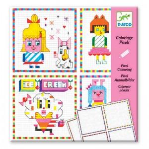 Djeco оцветяване с пиксели Забавни момичета